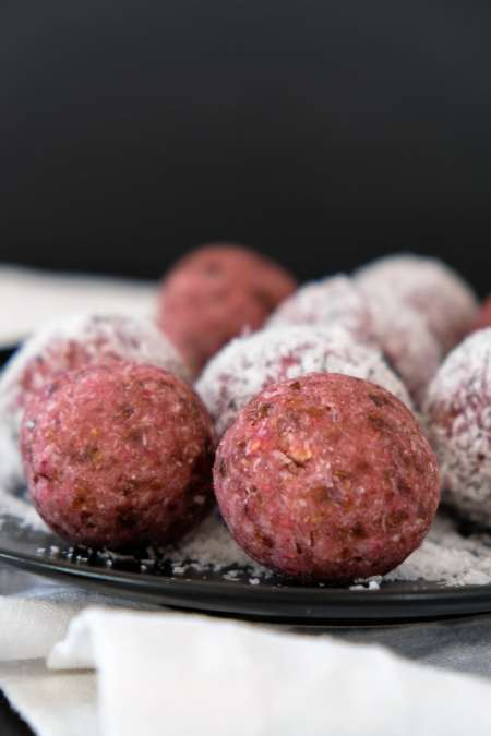 Raspberry Coconut Bliss Balls