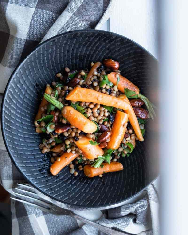 roasted carrot lentil salad from above