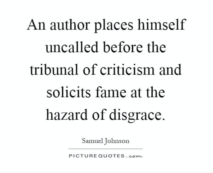 Writer criticism