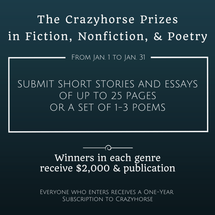 Crazyhorse Writing competition rules