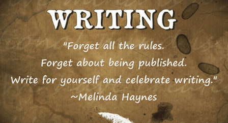 Author writing quotes