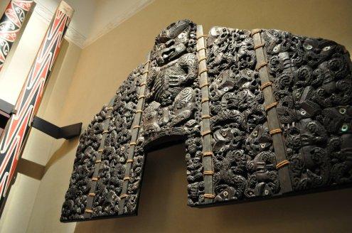 Maori Meeting house wall