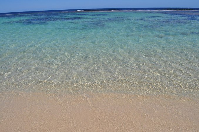 Bluest waters we have seen at Yallingup beach