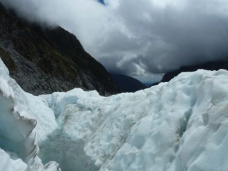 Weather starting to turn on the Fox Glacier