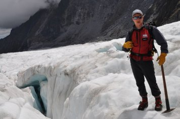 Our guide on the Fox Glacier