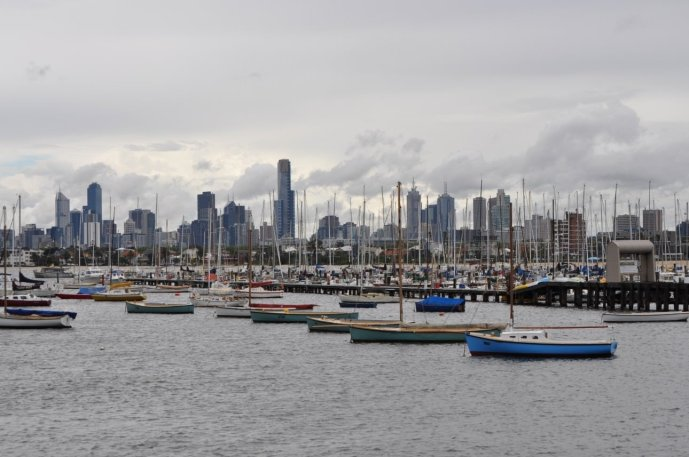 The view of Melbourne from St Kilda