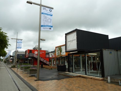Pop up shipping container shops