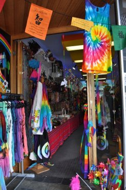 Lots of shops selling incense and tie-dye