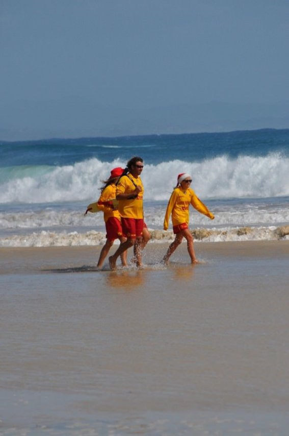 Lifeguards patrolling the beach