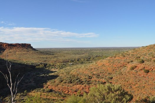 Looking out across the outback