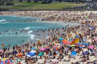 Bondi beach on New Years Day was mental