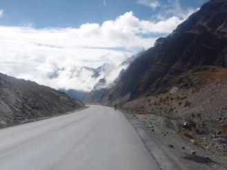 Death Road Bolivia winding road