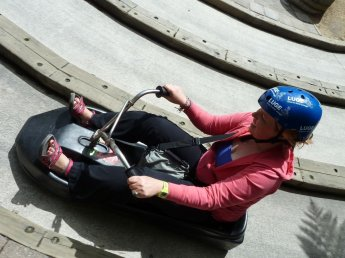 Eva on the luge