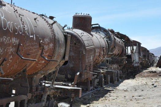 Train Cemetery Wonky Trains