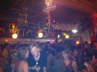 Partying at a bar on khao san road