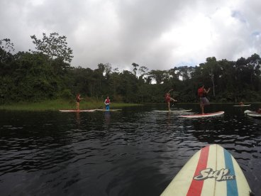 stand up paddle lake arenal