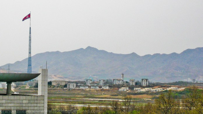 The fake ghost town of North Korea's Kijong-dong. Zero people live here.