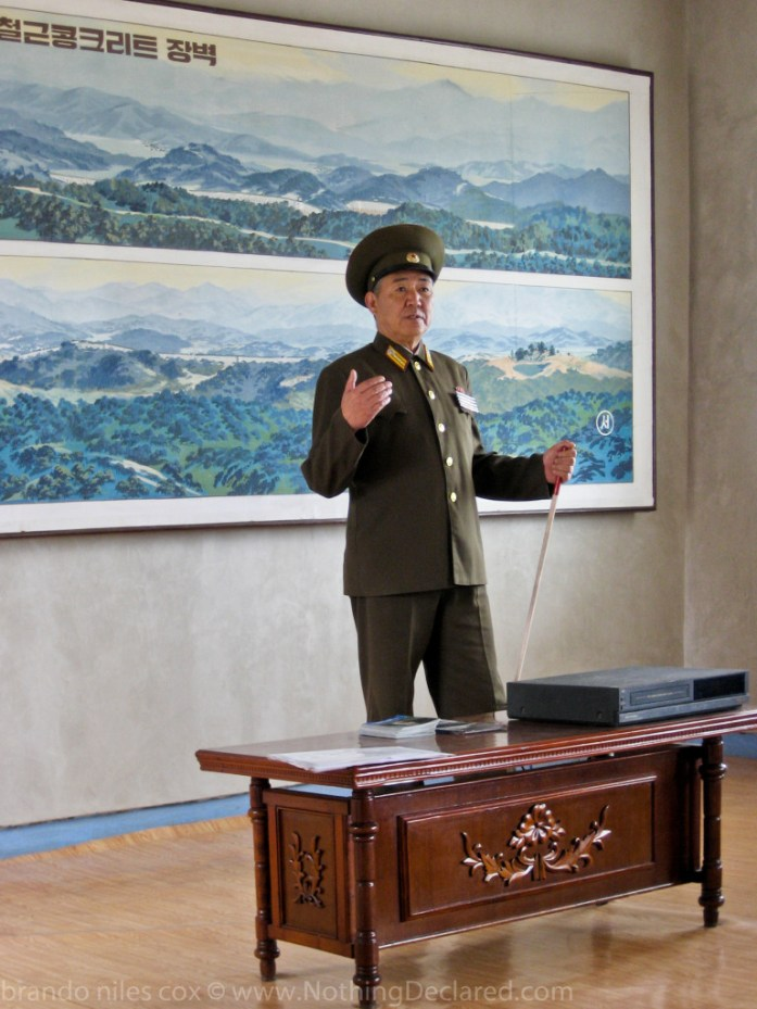 Group briefing by North Korean General