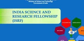 ISRF fellowship programme 2019