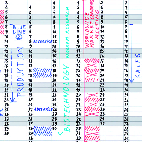 Magnetic 52 Week Annual Wall Planner