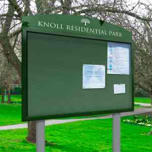 Outdoor Post Mounted Notice Boards