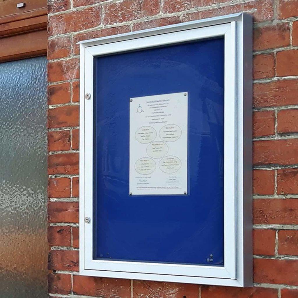 Varicase Single Door Wall Mounted Church Noticeboards