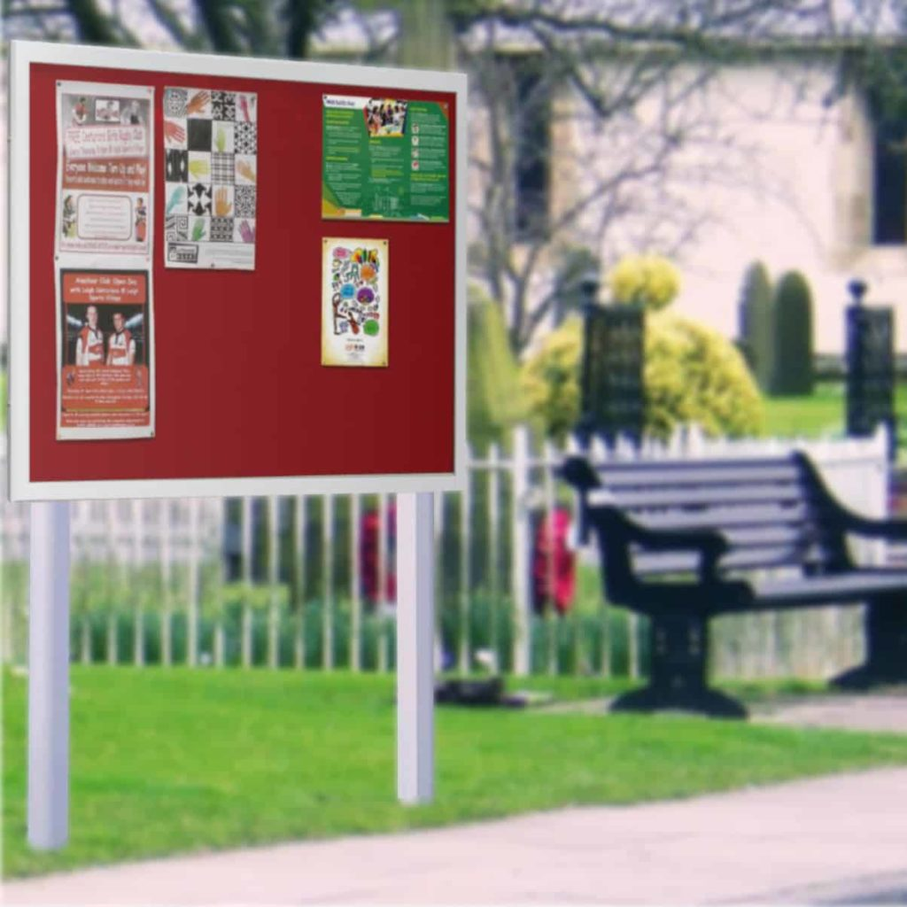 Stormguard Post Mounted Church Noticeboards