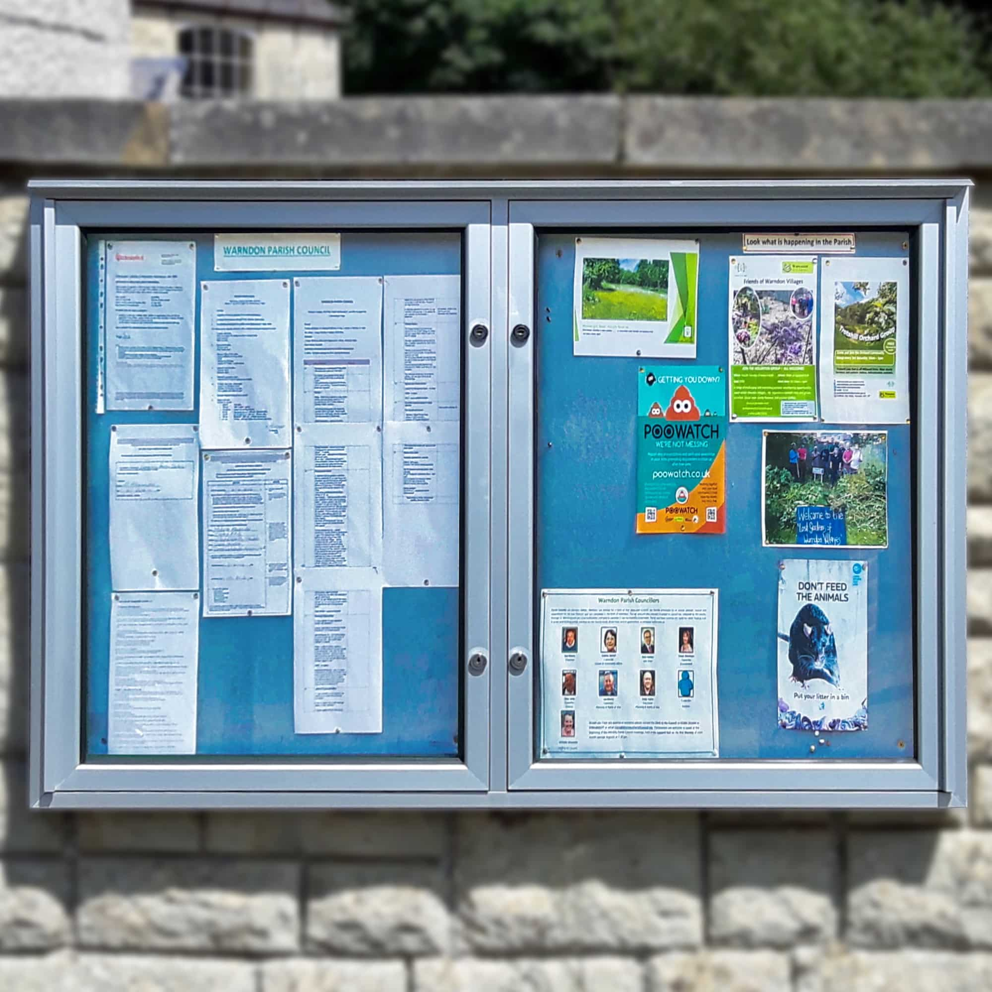Varicase Double/Triple Door Wall Mounted Church Noticeboards