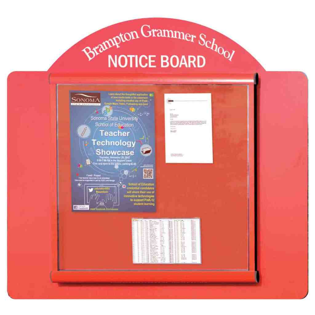 Scroll Wall Mounted Panel Outdoor Noticeboard