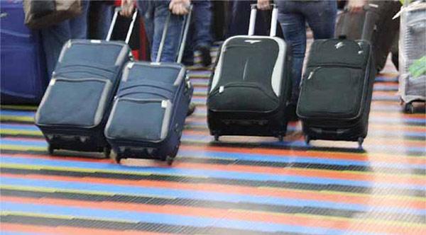 maletas de viajeros en Maiquetía