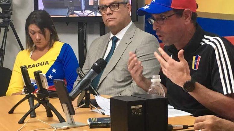 Capriles convoca a marcha 19 de junio 2017