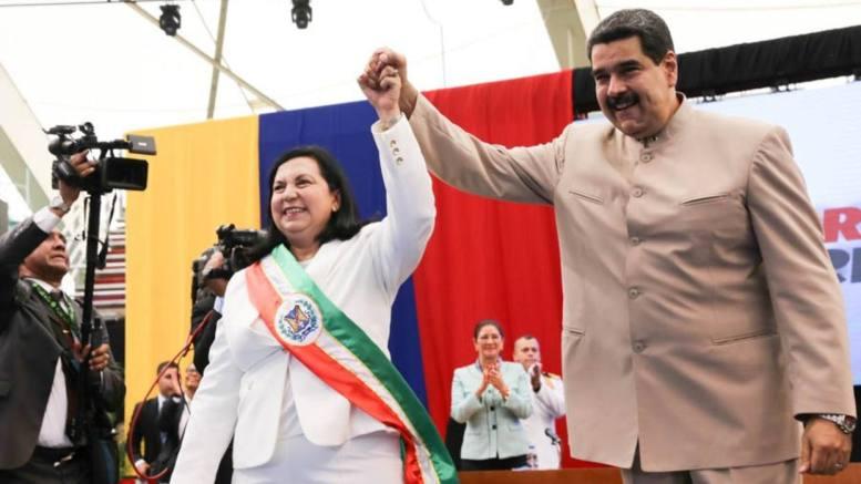 Maduro y la Almirante Meléndez