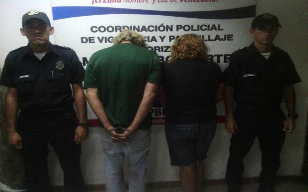 madre e hijo son detenidos en Maracaibo por hurto de cables