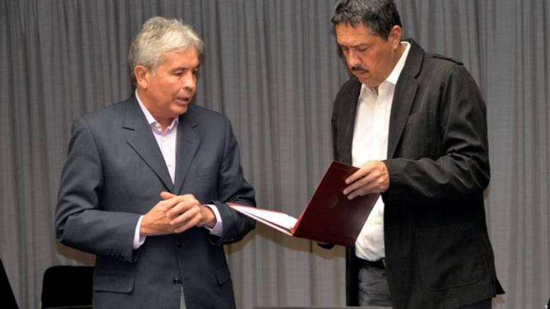 El ministro Castro Soteldo y el presidente del BCV