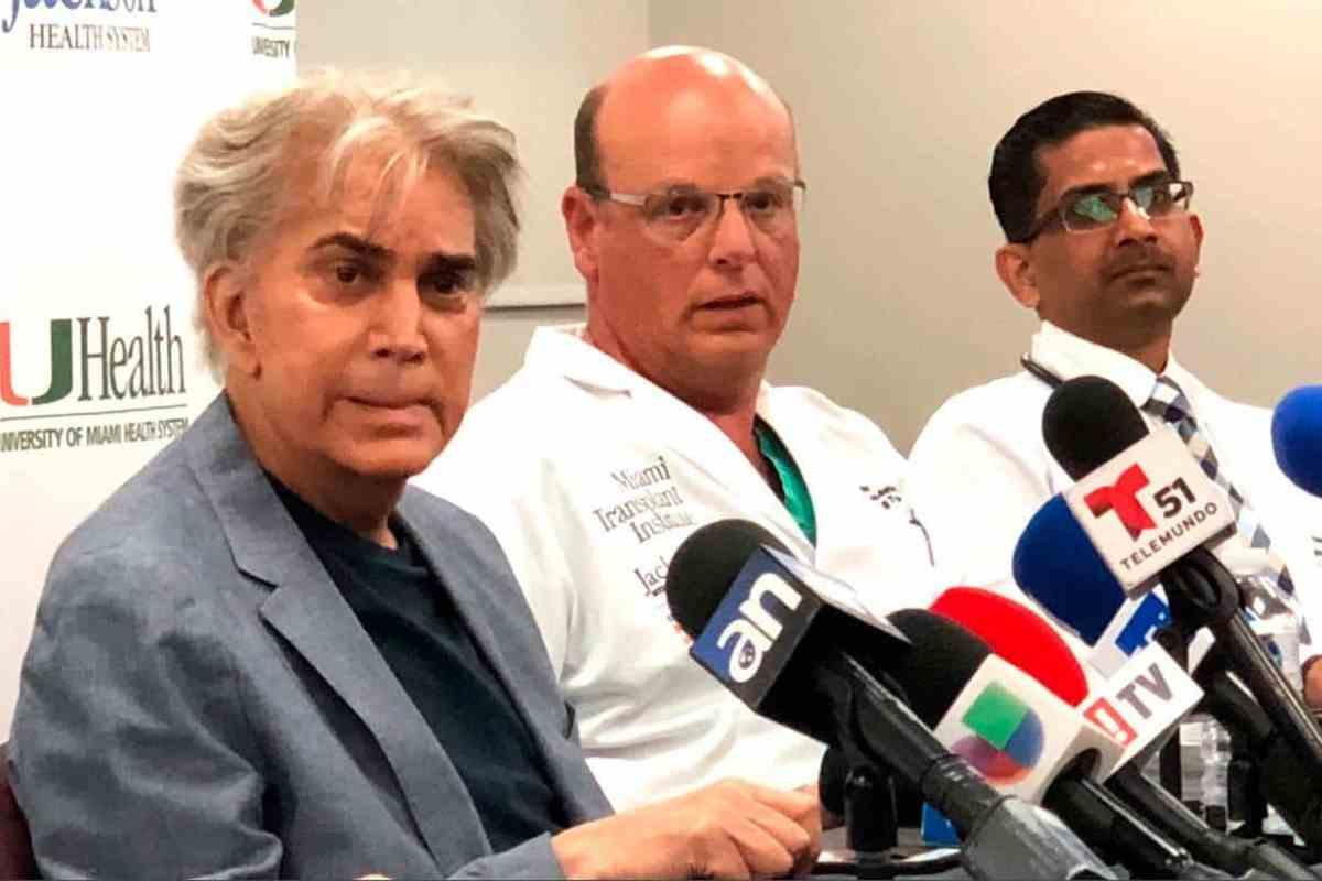 """Así luce """"El Puma"""" José Luis Rodríguez en su primera aparición pública tras un trasplante de pulmón (Foto)"""