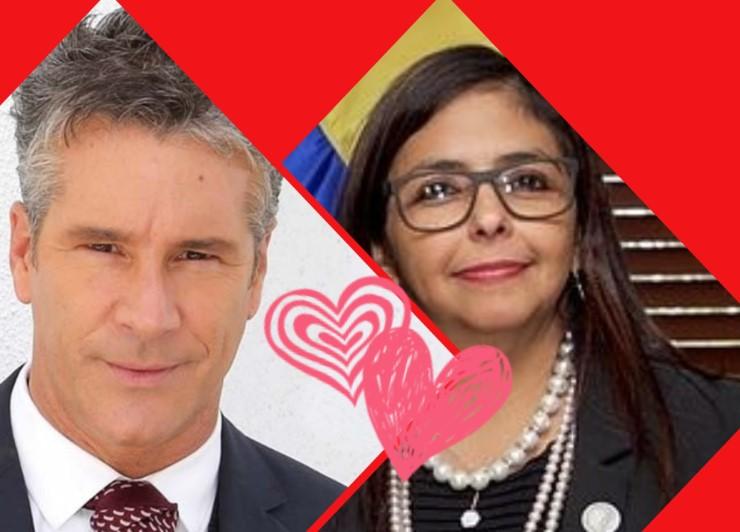 El día que Fernando Carrillo le declaró su amor a Delcy Eloina Rodríguez