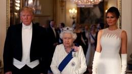 donal melania trum y la reina isabel ii