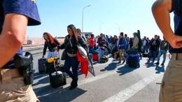 venezolanos en frontera de chile