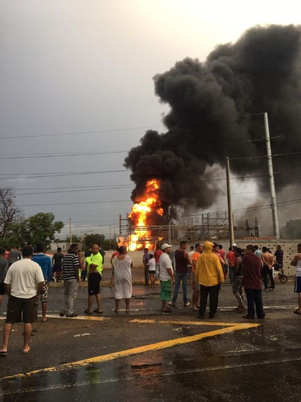 incendio de subestacion zulia