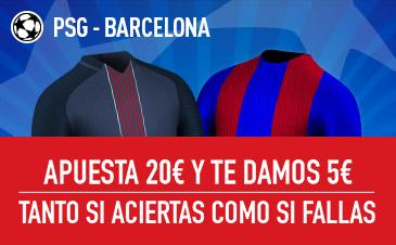 Sportium 5€ psg barcelona champions