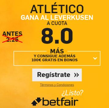 Supercuota Betfair Atlético