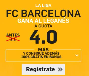 Supercuota Betfair la liga Barcelona gana Leganes