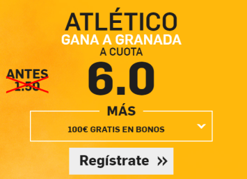 Supercuota Betfair Atletico Granada