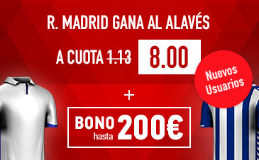 Supercuota Sportium R Madrid Alaves cuota 8