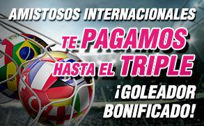 Wanabet amistosos internacionales gana el triple