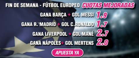 Wanabet futbol europeo Domingo