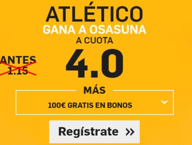 Supercuota Betfair Atletico Osasuna