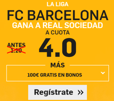 Supercuota Betfair Barcelona Real Sociedad