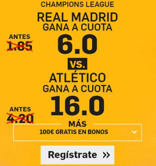 Supercuota Betfair Champions League Real Madrid vs Atlético