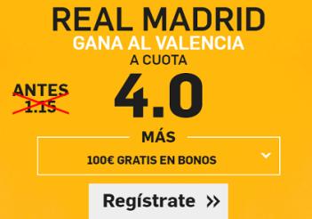 Supercuota Betfair La Liga Real Madrid Valencia